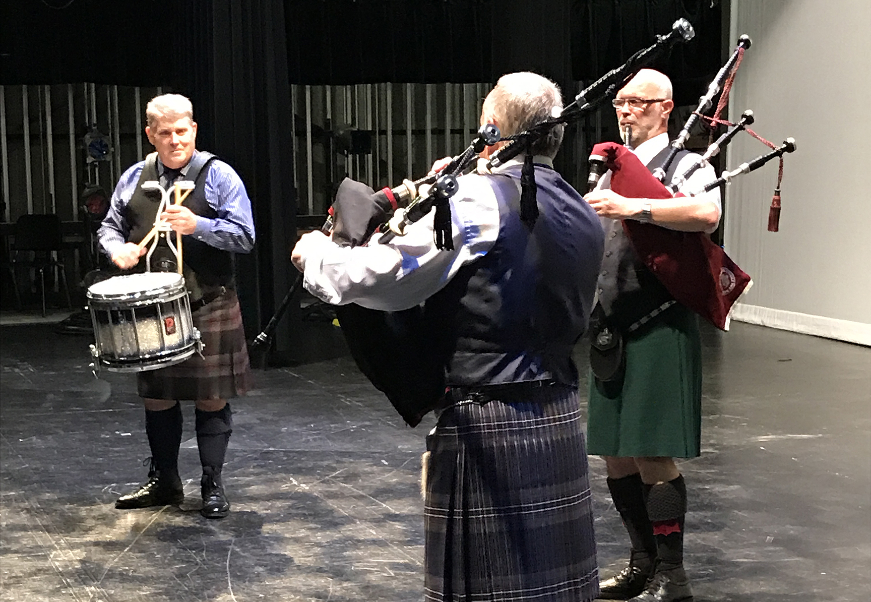 Balmoral School of Piping & Drumming's Pittsburgh Summer School, with Terry Tully, Robert Mathieson and Gordon Bell.
